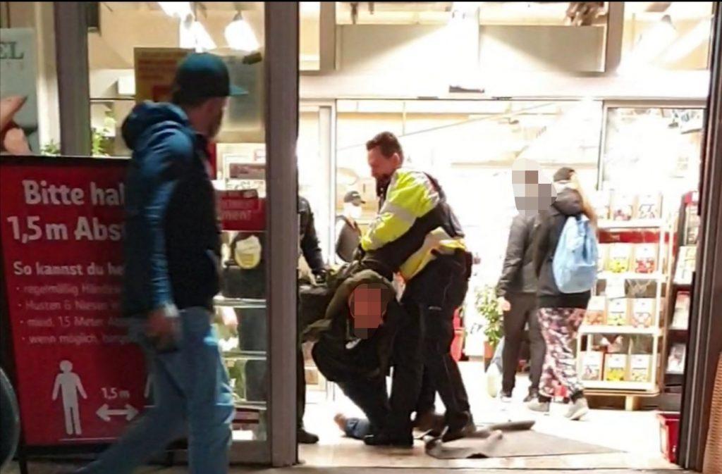 Polizei Supermarkt